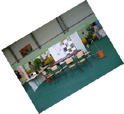 Installation du stand du forum des associations