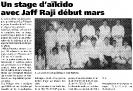 article presse 2 presentation stage Jaff RAJI 8 et 9 mars 2003