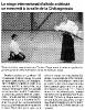article presse debut stage tamura 2005