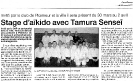 Ouest France Lundi 28 avril 2005 Prepa stage Maitre TAMURA
