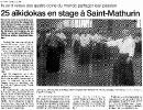 Ouest France vendredi 29 juillet 2005 - Stage avec Jaff RAJI